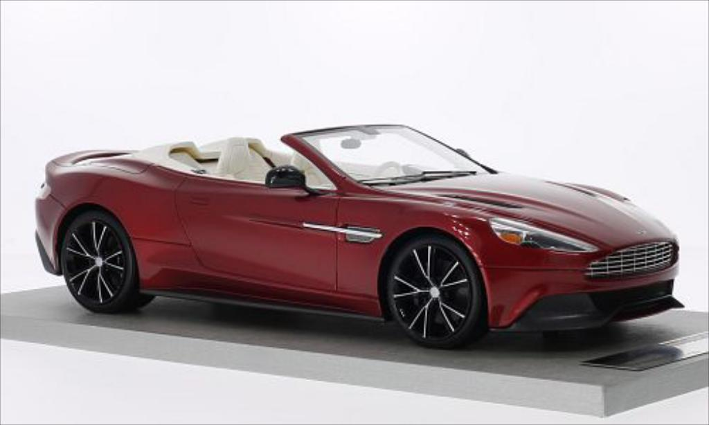 Aston Martin Vanquish Volante rot 2014 Tecnomodel. Aston Martin Vanquish Volante rot 2014 modellauto 1/18