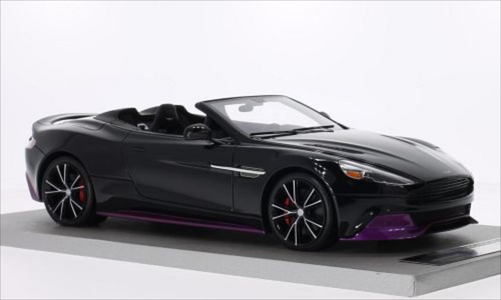 Aston Martin Vanquish 1/18 Tecnomodel Volante noire/rouge miniature