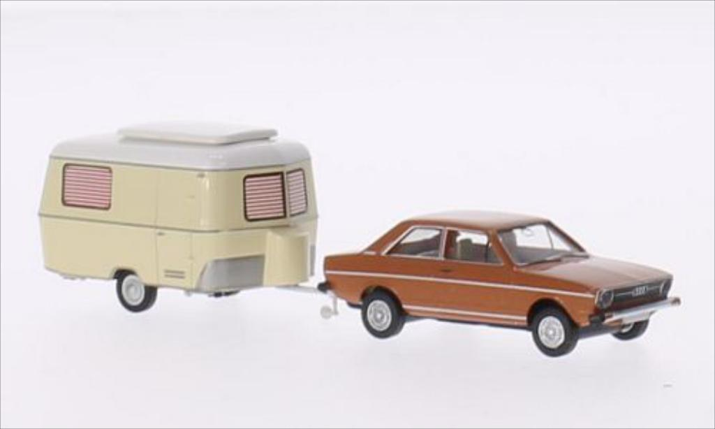Audi 80 1/87 Brekina marron miniature