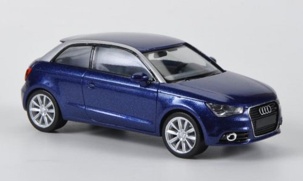 audi a1 miniature bleu 2010 herpa 1 87 voiture. Black Bedroom Furniture Sets. Home Design Ideas
