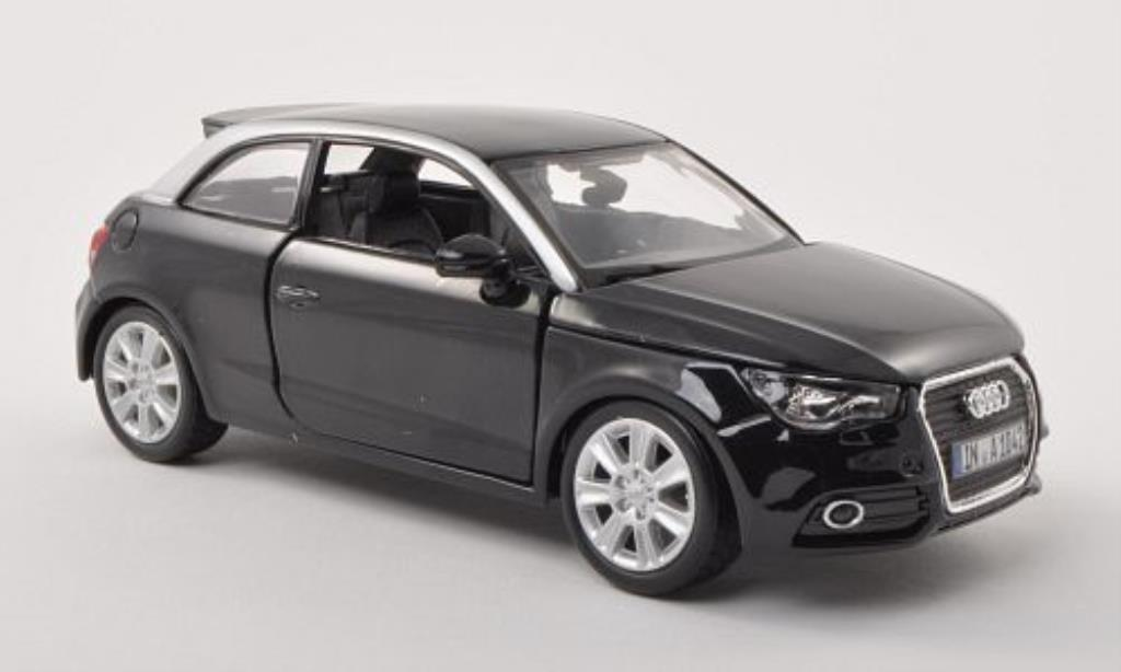 Audi A1 1/24 Burago black/grey diecast model cars