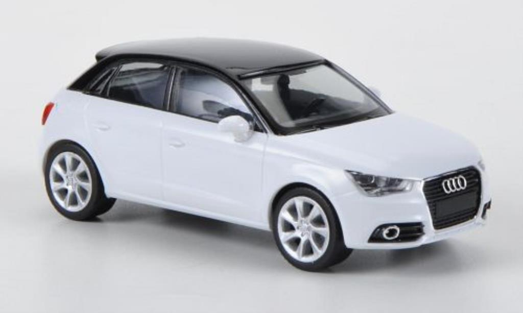 audi a1 miniature sportback blanche noire herpa 1 87. Black Bedroom Furniture Sets. Home Design Ideas