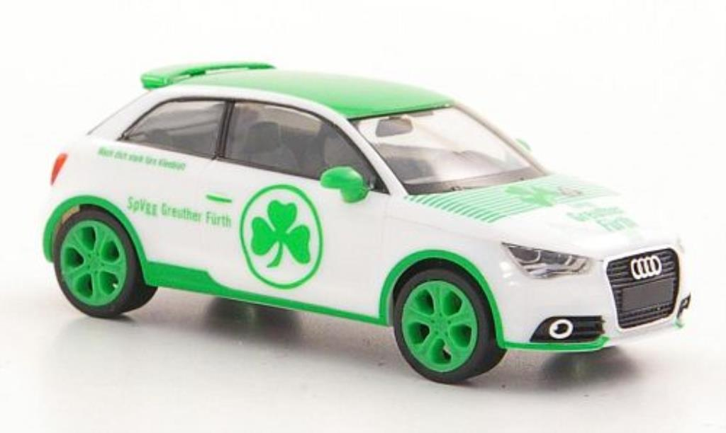 Audi A1 1/87 Herpa SpVgg Greuther Furth blanche/verte miniature