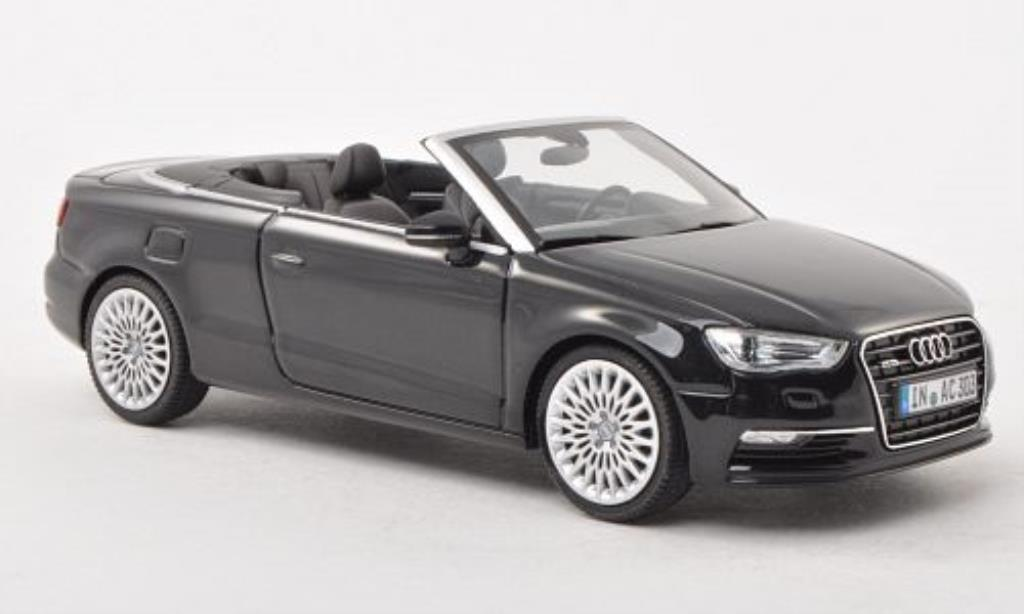 audi a3 cabriolet schwarz 2013 herpa modellauto 1 43. Black Bedroom Furniture Sets. Home Design Ideas