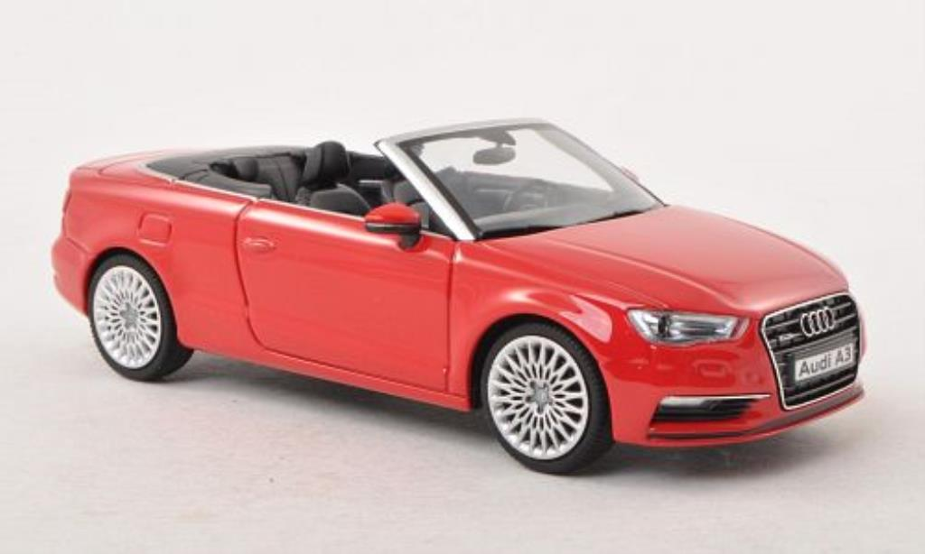 audi a3 miniature cabriolet rouge herpa 1 43 voiture. Black Bedroom Furniture Sets. Home Design Ideas