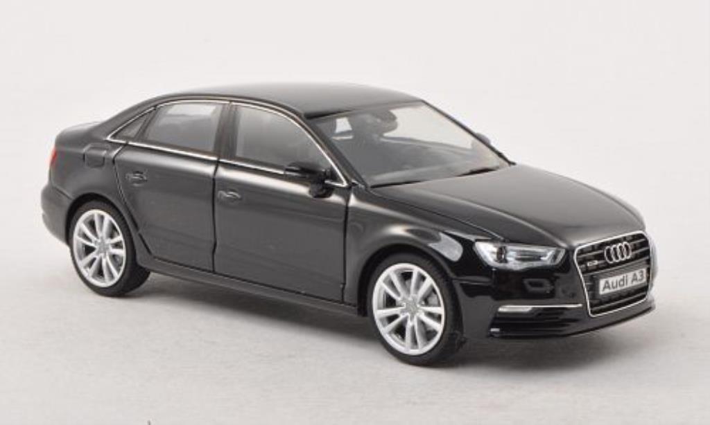 audi a3 limousine schwarz herpa modellauto 1 43 kaufen. Black Bedroom Furniture Sets. Home Design Ideas