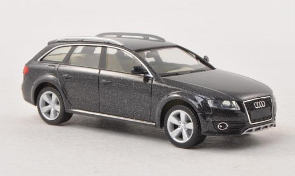 Audi A4 Avant 1/87 Herpa Allroad grise miniature