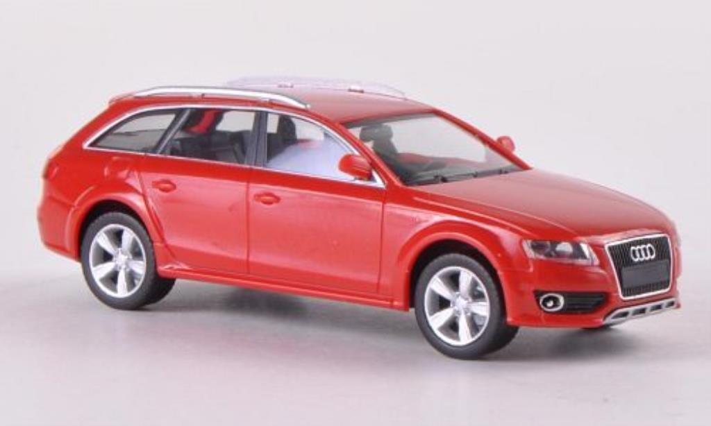 Audi A4 Avant 1/87 Herpa Allroad rouge miniature