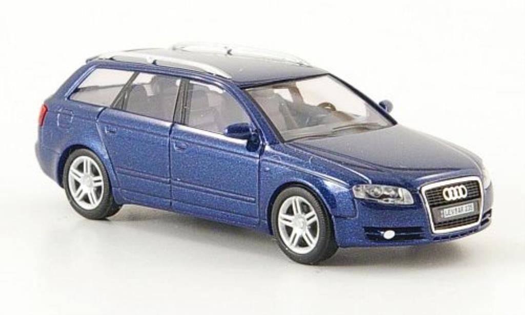 Audi A4 Avant 1/87 Busch bleu Facelift 2005 miniature