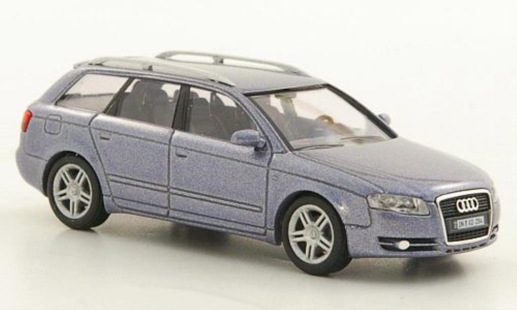 Audi A4 Avant 1/87 Busch grise-bleu Facelift 2005 miniature
