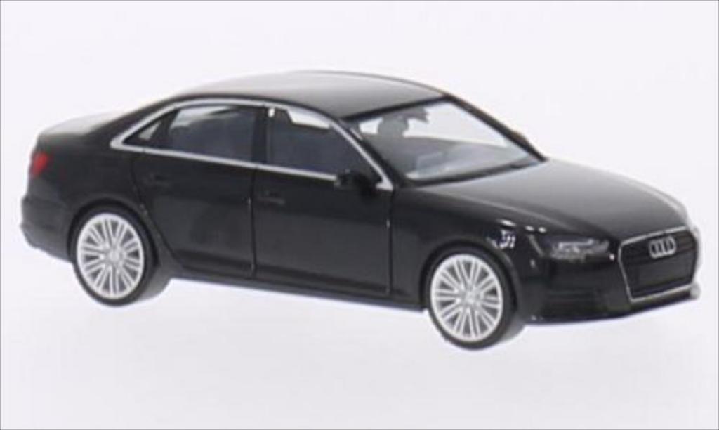Miniature Audi A4 (B9) noire 2015 Herpa. Audi A4 (B9) noire 2015 miniature 1/87