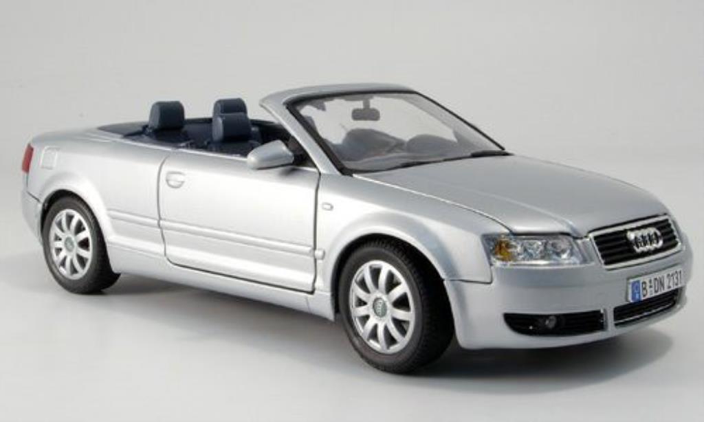 Audi A4 1/18 Motormax Cabriolet grise miniature