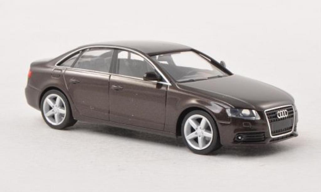 Audi A4 1/87 Herpa marron miniature
