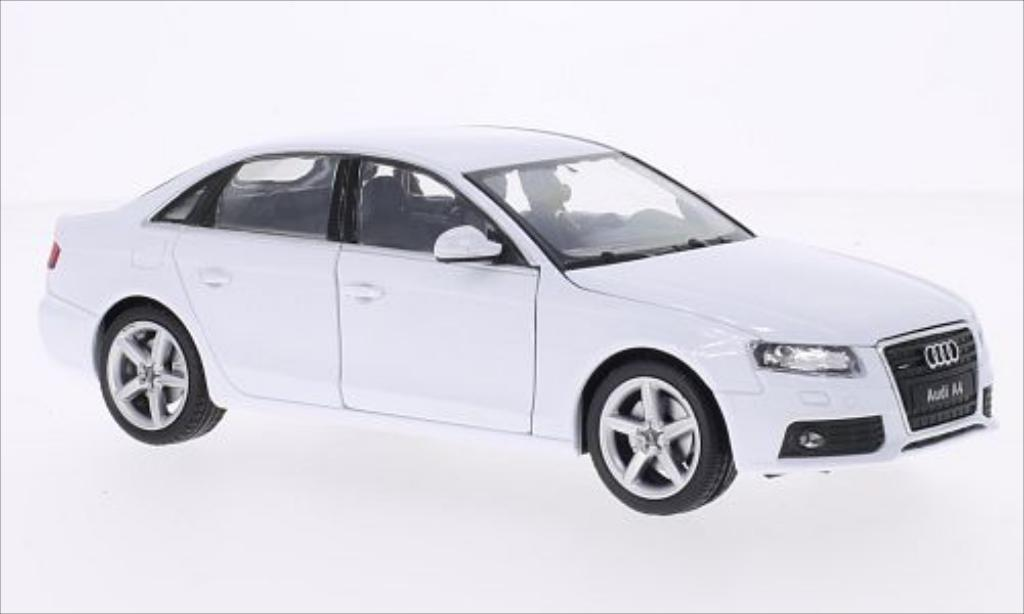audi a4 miniature blanche 2009 welly 1 24 voiture. Black Bedroom Furniture Sets. Home Design Ideas