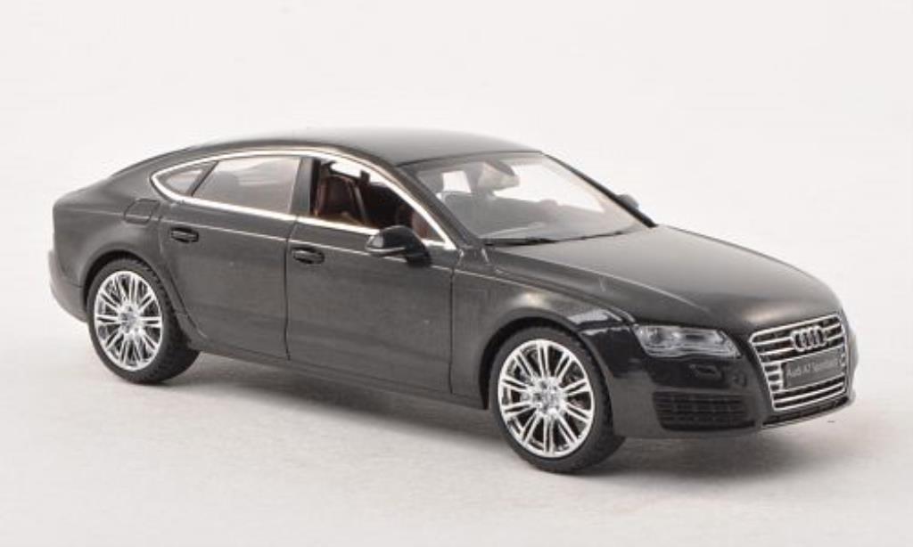 Audi A7 1/43 Kyosho Sportback grise miniature
