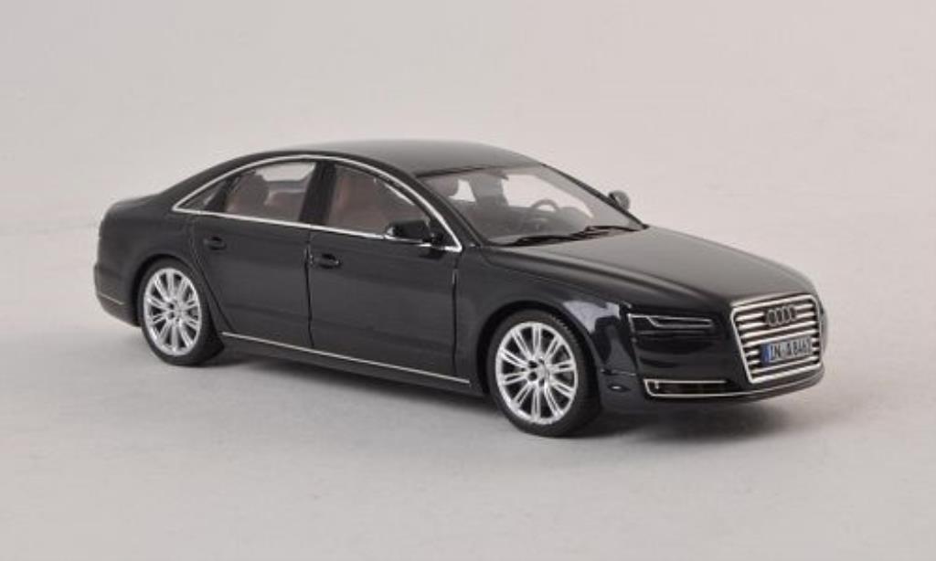 audi a8 blau 2014 spark modellauto 1 43 kaufen verkauf modellauto online. Black Bedroom Furniture Sets. Home Design Ideas