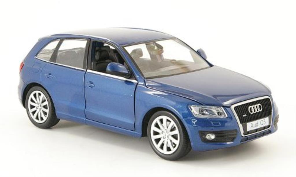Audi Q5 1/24 Motormax bleu miniature