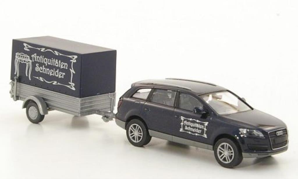 Audi Q7 1/87 Wiking mit Anhanger Antiquitaten Schneider miniature