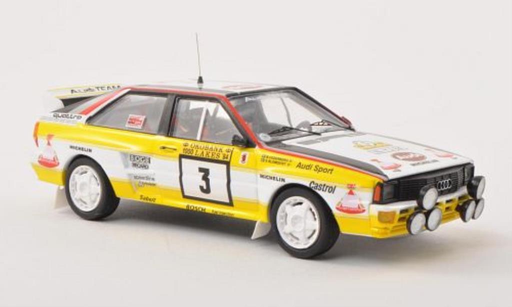 Audi Quattro 1/43 Trofeu No.3 1000 Lakes Rally 1984 /B.Cederberg miniature