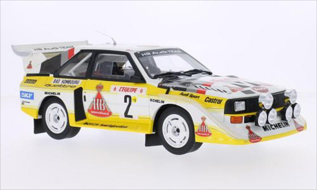 Audi Quattro 1/18 Ottomobile S1 No.2 Team Rally Monte Carlo 1986 /C.Geistdorfer miniature