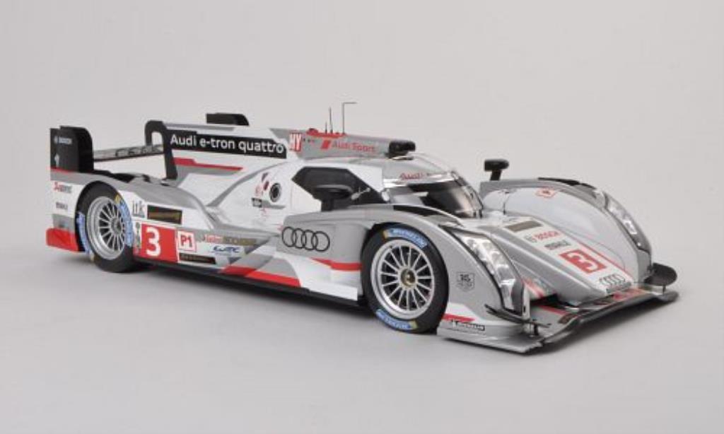 Audi R18 e-tron quattro No.3 24h Le Mans 2013 Spark. Audi R18 e-tron quattro No.3 24h Le Mans 2013 miniature 1/18