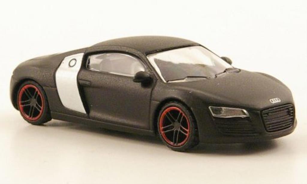 Audi R8 1/87 Schuco concept black matt-noire miniature