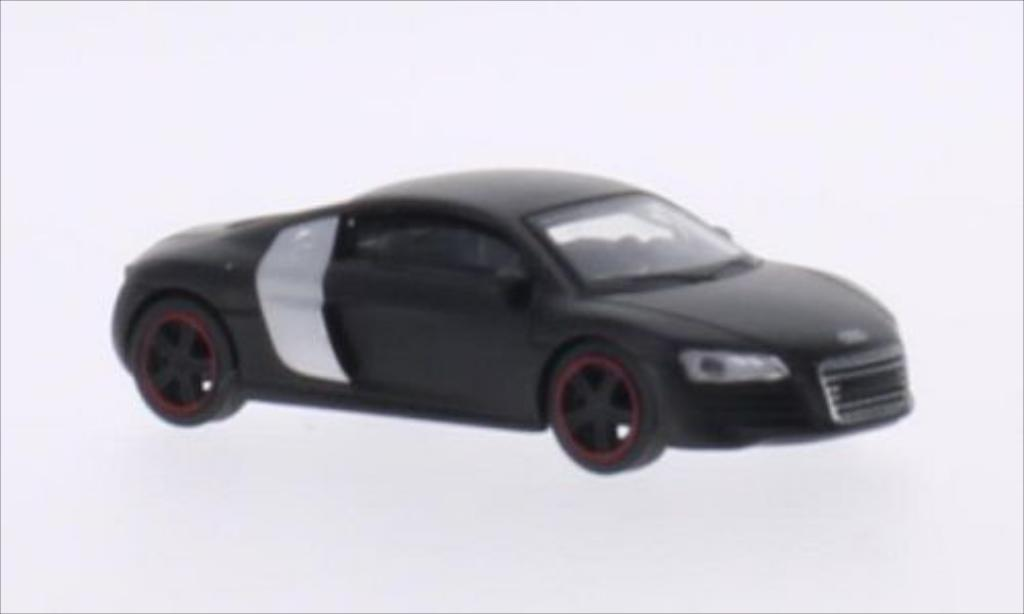 Audi R8 1/64 Schuco Coupe matt-black/gray diecast