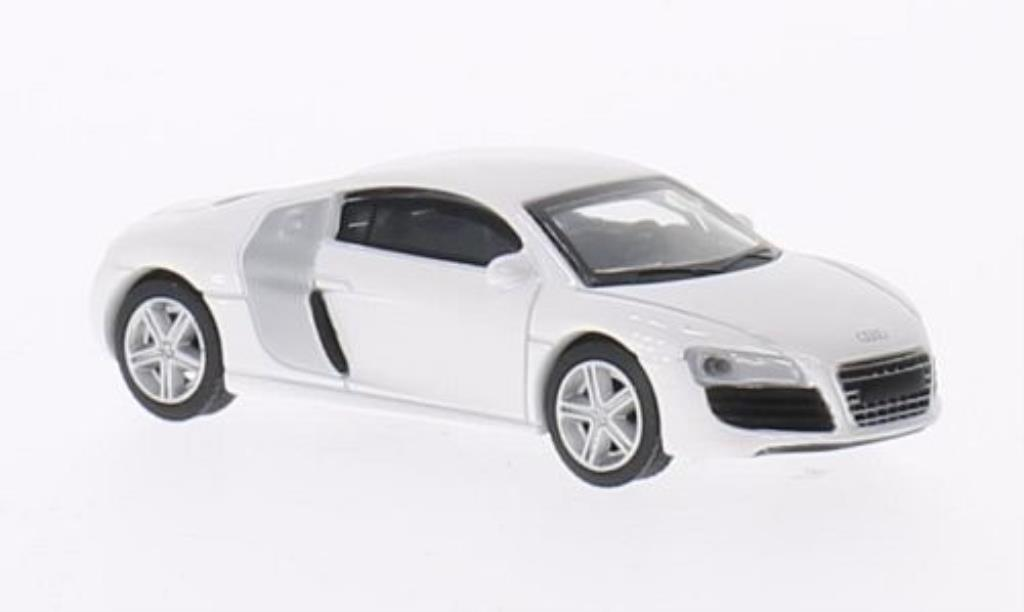 Audi R8 1/64 Schuco Coupe white diecast model cars