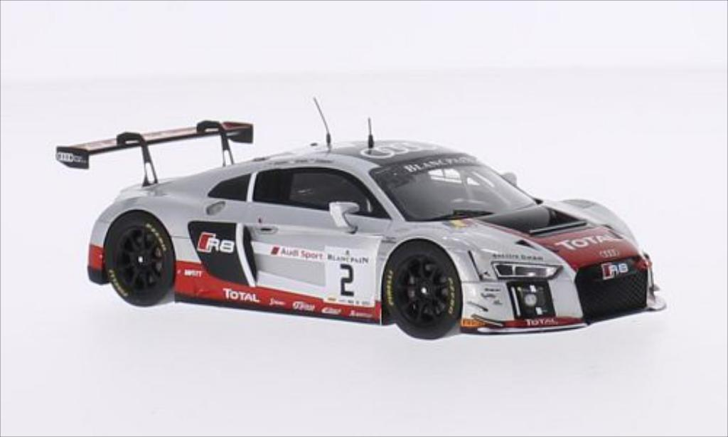 Audi R8 LMS 1/43 Spark No.2 Audi Sport Team WRT 24h Spa 2015 /S.Ortelli miniature