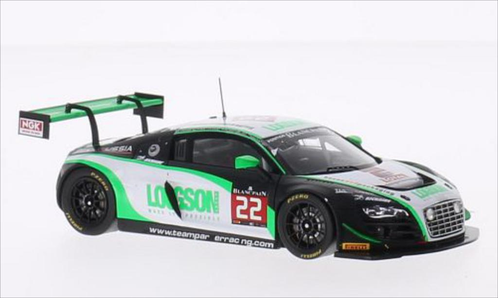 Audi R8 LMS 1/43 Spark LMS Ultra GTR No.22 Team Parker Racing Rose 24h Spa 2014 /L.Machitski miniature