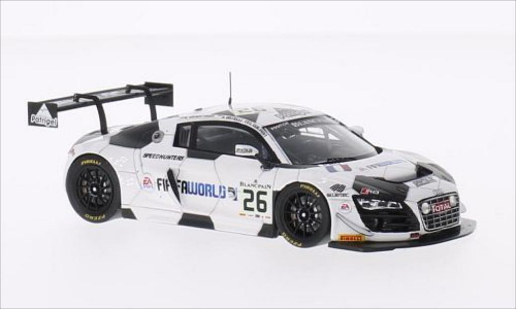 Audi R8 LMS 1/43 Spark LMS Ultra No.26 Sainteloc Racing 24h Spa 2014 /G.Guilvert miniature