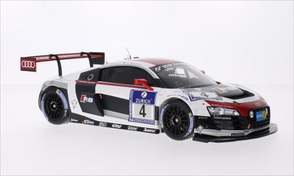 Audi R8 LMS 1/18 Spark LMS Ultra No.4 Phoenix Racing 24h Nurburgring 2014 miniature