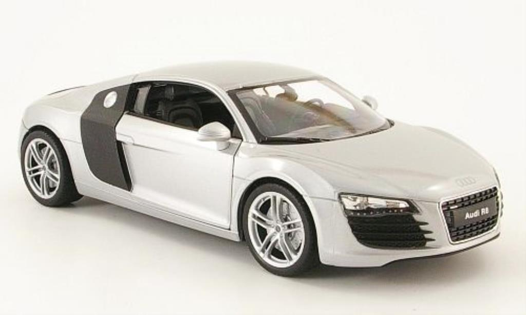 audi r8 miniature grise welly 1 24 voiture. Black Bedroom Furniture Sets. Home Design Ideas