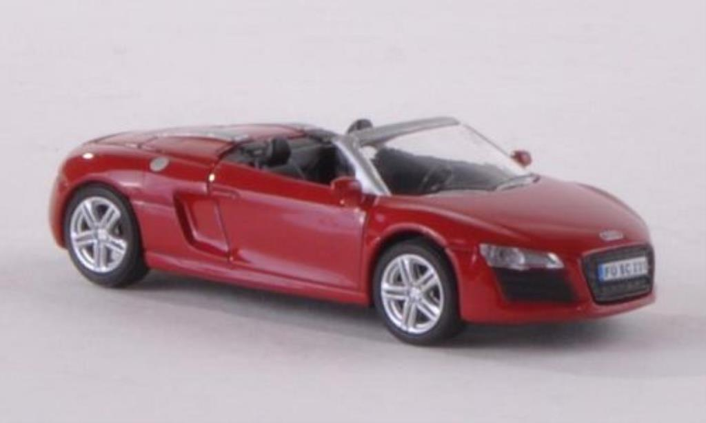 audi r8 spyder miniature rouge schuco 1 87 voiture. Black Bedroom Furniture Sets. Home Design Ideas