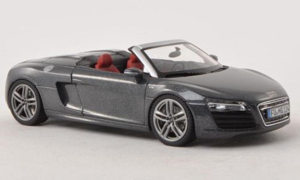 Audi R8 Spyder 1/43 Schuco Facelift grey diecast model cars