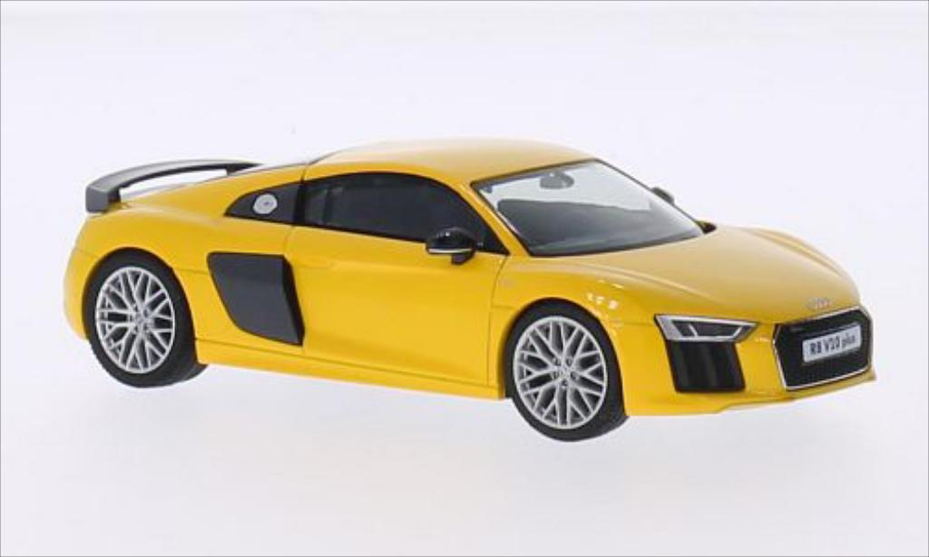 audi r8 miniature v10 plus jaune herpa 1 43 voiture. Black Bedroom Furniture Sets. Home Design Ideas