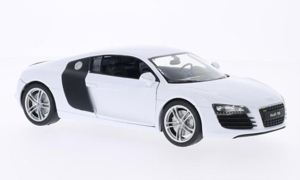audi r8 miniature blanche welly 1 24 voiture. Black Bedroom Furniture Sets. Home Design Ideas