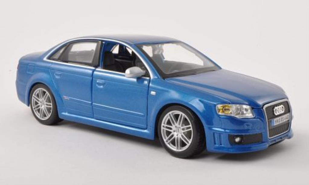 Audi RS4 1/24 Burago (B7) bleu modellino in miniatura