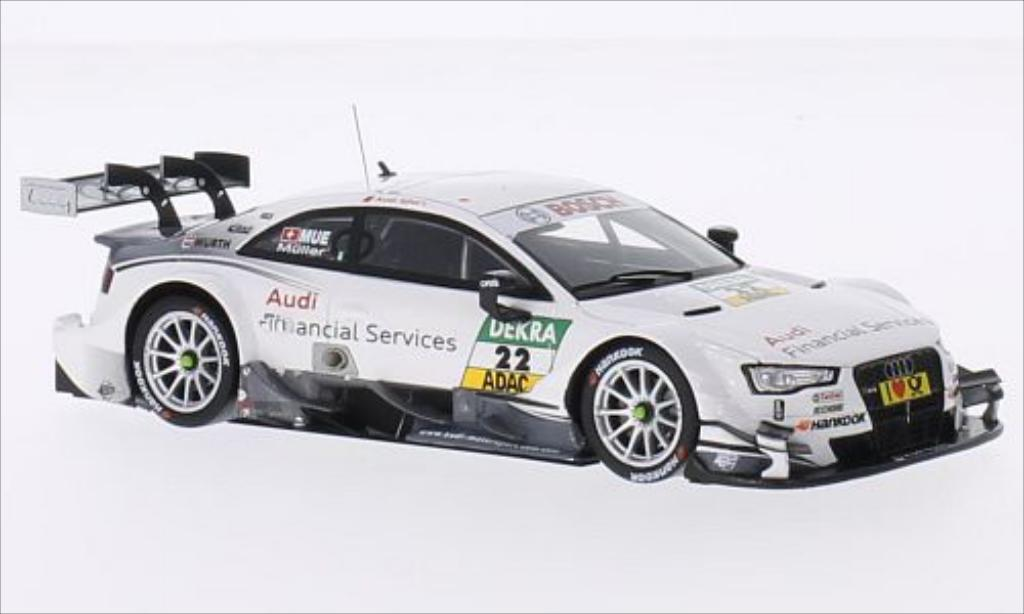 Audi RS5 DTM 1/43 Spark No.22 Sport Team Rosberg Financial Services 2014 miniature