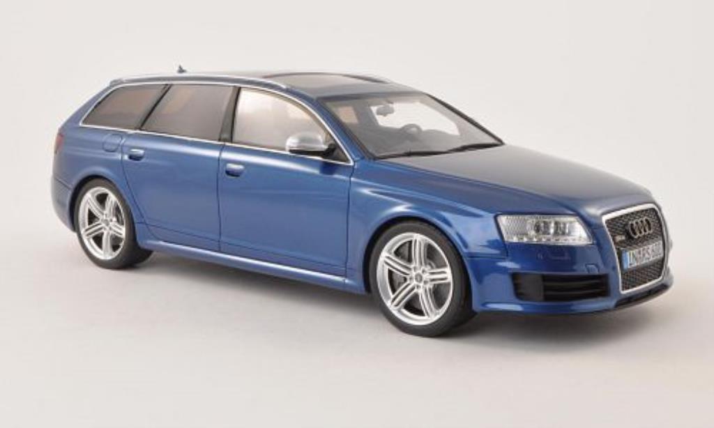 Audi RS6 1/18 Ottomobile (C6) Avant bleu 2008 diecast model cars