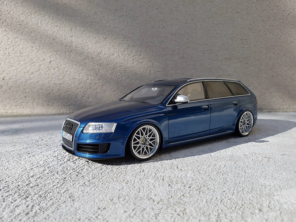 Audi RS6 C6 Avant V10 TFSI blue tuning Ottomobile. Audi RS6 C6 Avant V10 TFSI blue miniature 1/18