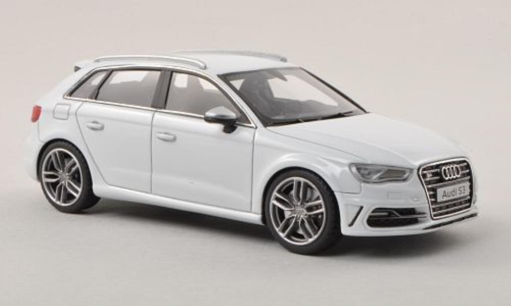 Audi S3 1/43 Minichamps Sportback grey 2013 diecast model cars