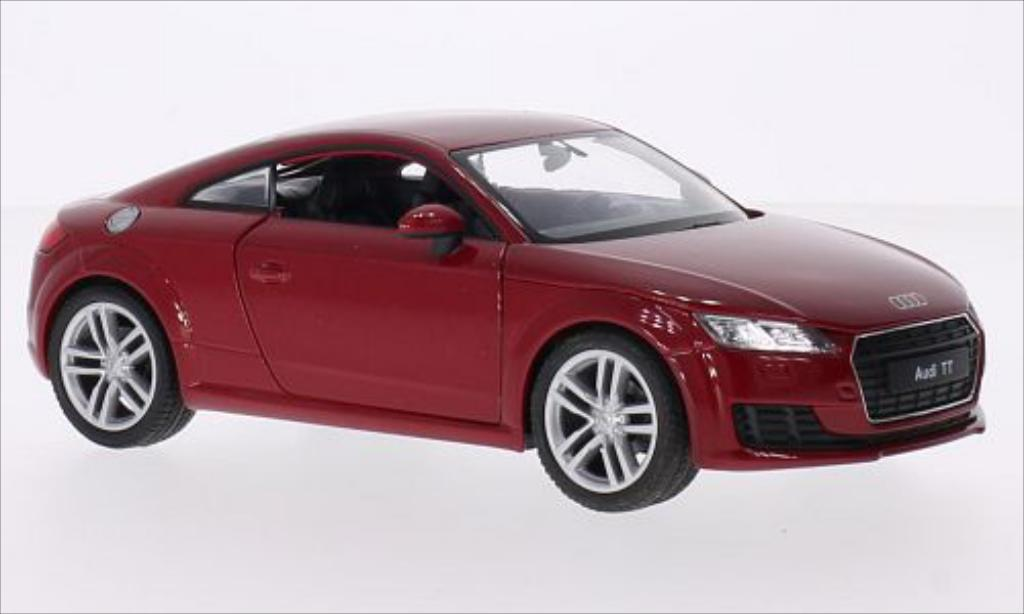 Audi TT 1/24 Welly (8S) metallise rouge 2014 miniature