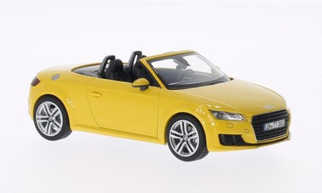 Audi TT 1/43 Kyosho (8S) Roadster jaune 2014 miniature