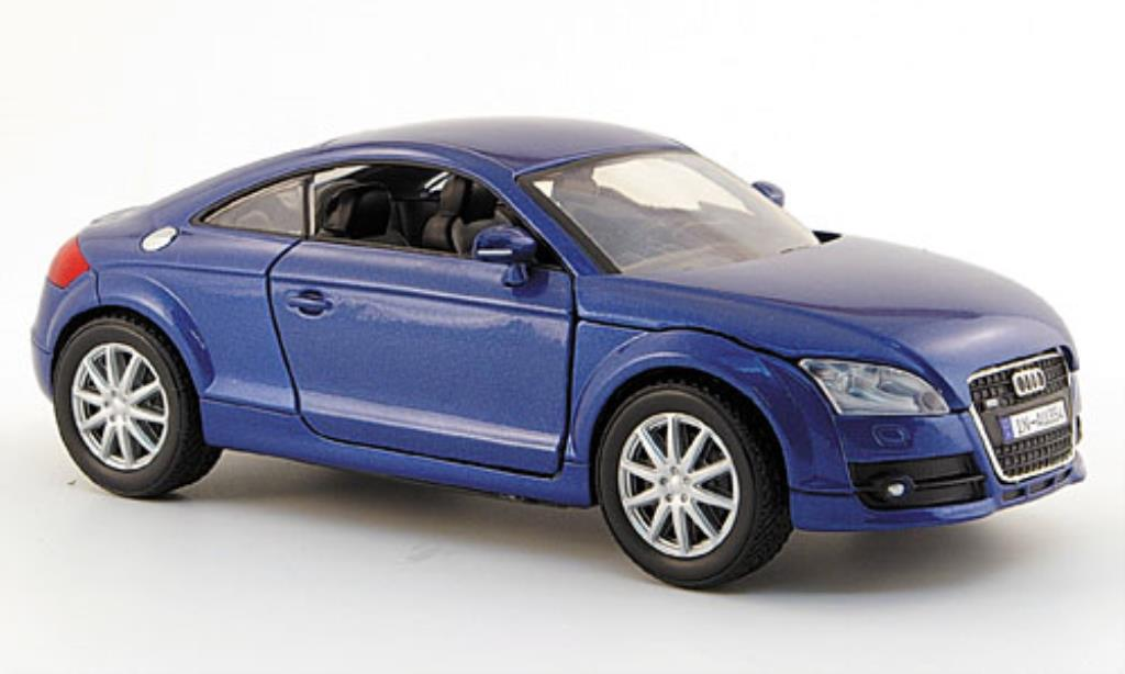Audi TT 1/24 Motormax Coupe bleu 2006 miniature