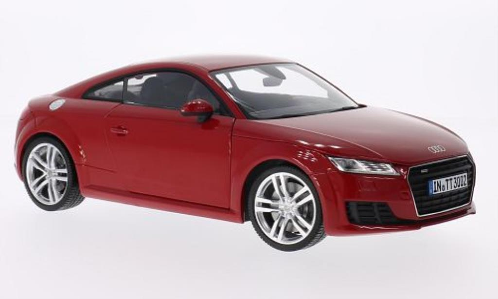 audi tt miniature coupe rouge 2014 minichamps 1 18 voiture. Black Bedroom Furniture Sets. Home Design Ideas