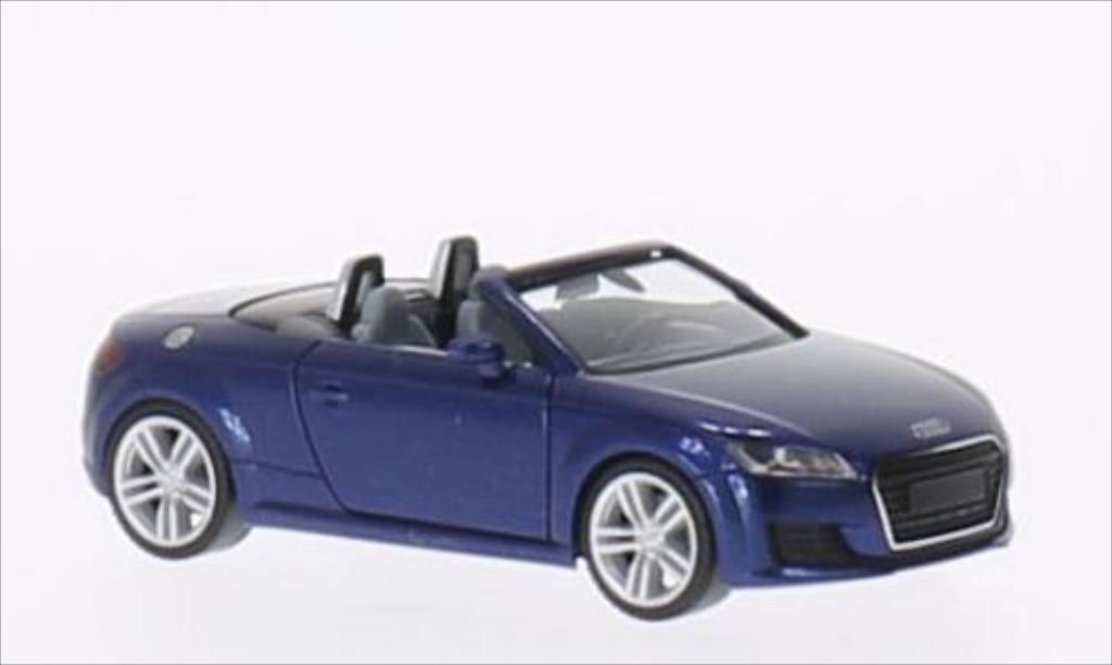 Audi TT Roadster 1/87 Herpa Roadster metallise bleu miniature