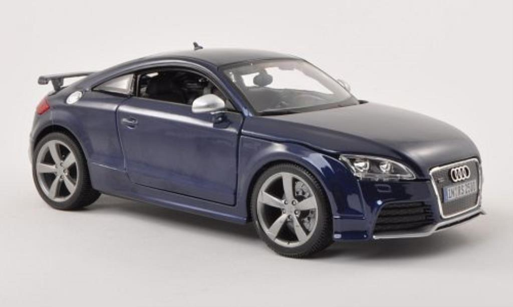 Audi TT RS 1/18 Burago bleu diecast model cars