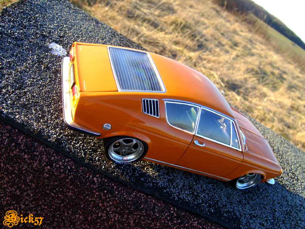 Audi 100 coupe S 1/18 Anson 1970 orange jantes porsche