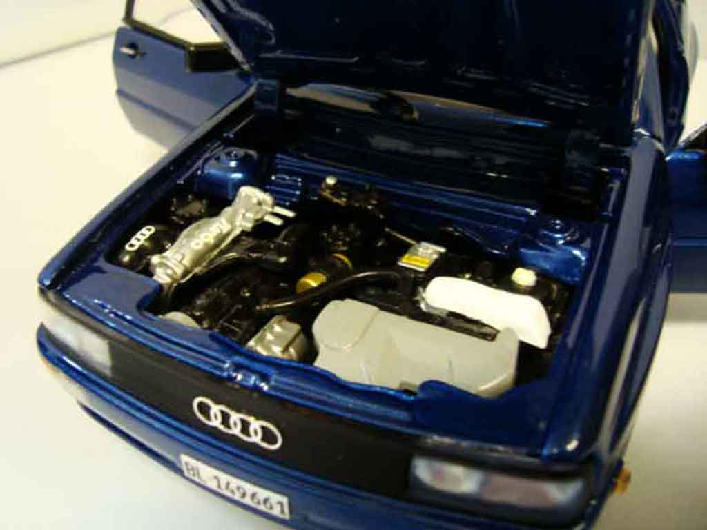 Audi Quattro 1/18 Sun Star bleu jantes bbs bords larges